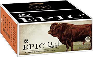 EPIC Beef Habanero Cherry Walnut Protein Bars, Grass-Fed, 12Ct Box 1.5oz bars