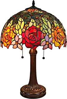 Amora Lighting Tiffany Style Table Lamp Banker 23