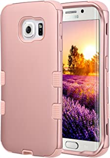 ULAK Galaxy S6 Edge Case, 3 in 1 Shield Shock Absorbing Case with Hybrid Cover Soft Silicone + Hard PC Material Design for Samsung Galaxy S6 Edge (5.1