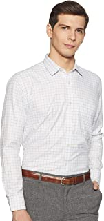 Amazon Brand - Symbol Men's Checkered Regular Fit Full Sleeve Formal Shirt