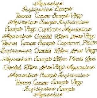 OLYCRAFT 96 قطعة كوكبة راتنج الحشو زودياك علامة الراتنج الحشو، كوكبة سحر الكلمة رسالة قلادة إيبوكسي الراتنج اللوازم ملء ال...