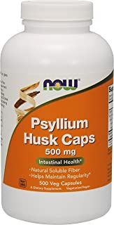NOW Psyllium Husk Caps , 500 mg , 500 Capsules