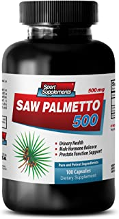 prostate supplements testosterone - SAW PALMETTO 500 - saw palmetto extract - 1 Bottle 100 Capsules