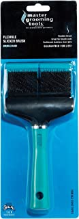 """Master Grooming Tools Double-Sided Hard Flexible Slicker Brushes — Versatile Brushes for Grooming Dogs - Green, 8""""L x 4""""W"""