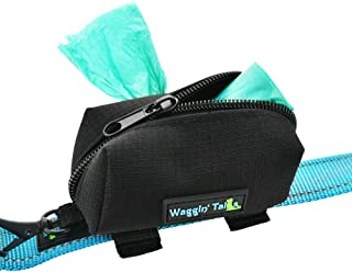 Waggin Tails Poop Bag Dispenser (Black) - Improved Design! - Quick Waste Dispenser with No Dangle Design and 1 Free Roll