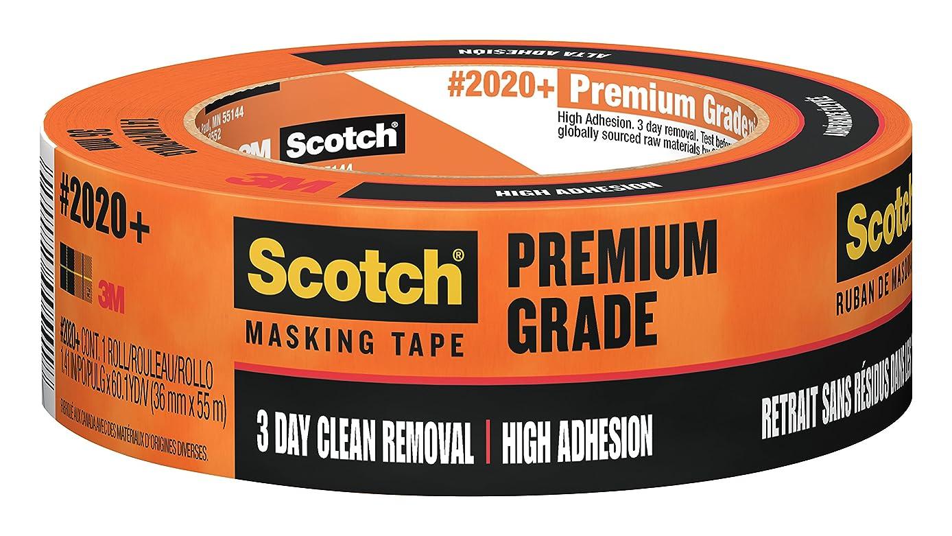 Scotch Masking Tape Heavy Duty,  1.41 in x 60 yd, 2020+, 24 Rolls