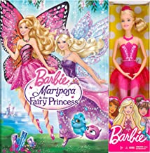 Barbie Girls Mariposa & The Fairy Princess Animated Movie & Barbie Doll Set Pink Ballerina 12