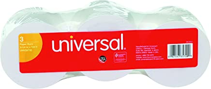 "Universal 35720 Adding Machine/Calculator Roll, 16 lb, 1/2"" Core, 2-1/4"" x 150 ft, White (Pack of 3)"