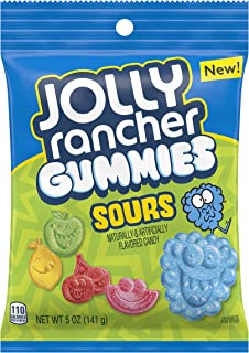 Jolly Rancher Gummies Candy, Sour, 5 Ounce (Pack of 12)