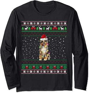 Aussie Ugly Christmas Sweater Merry Aussiemas Santa Aussie Long Sleeve T-Shirt