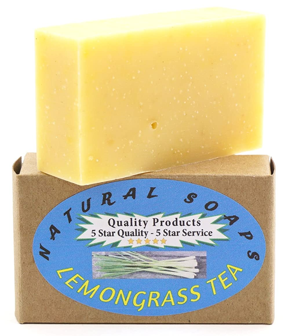 ORGANIC Handmade Lemongrass Tea Soap, Use on Hands, Face, or All over Body