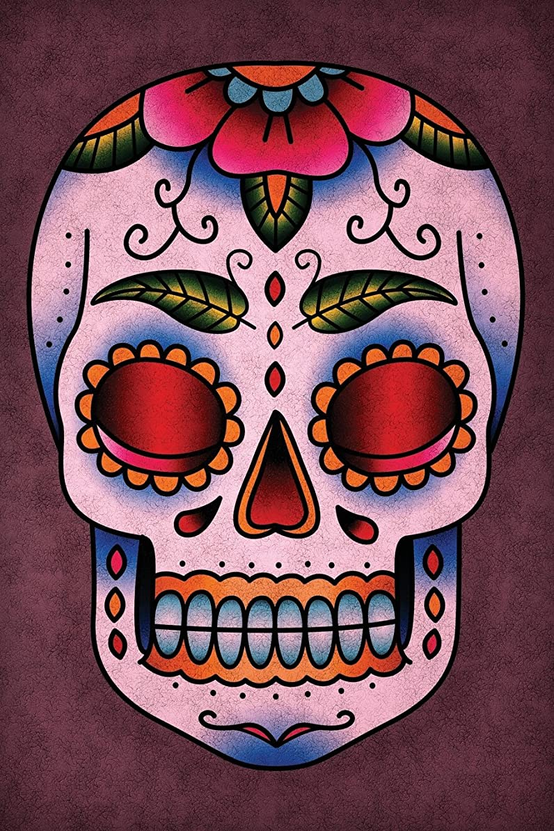 フォーマット池水差しSugar Skull Notebook: Blank Journal Diary Memoir Log Logue (Tattoo You 150 Lined)