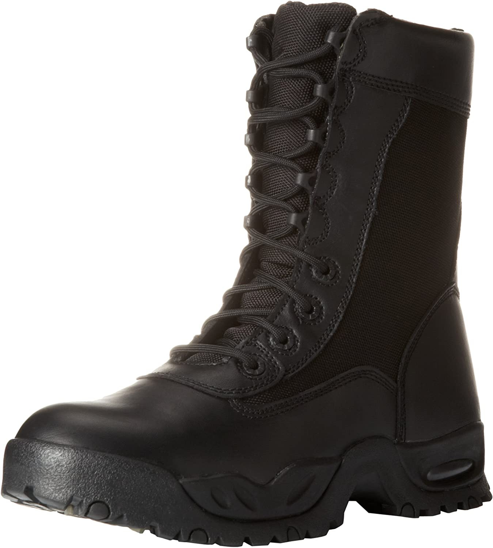 Ridge Luxury Footwear Men's Air-Tac Work Zipper Boot ST Max 44% OFF
