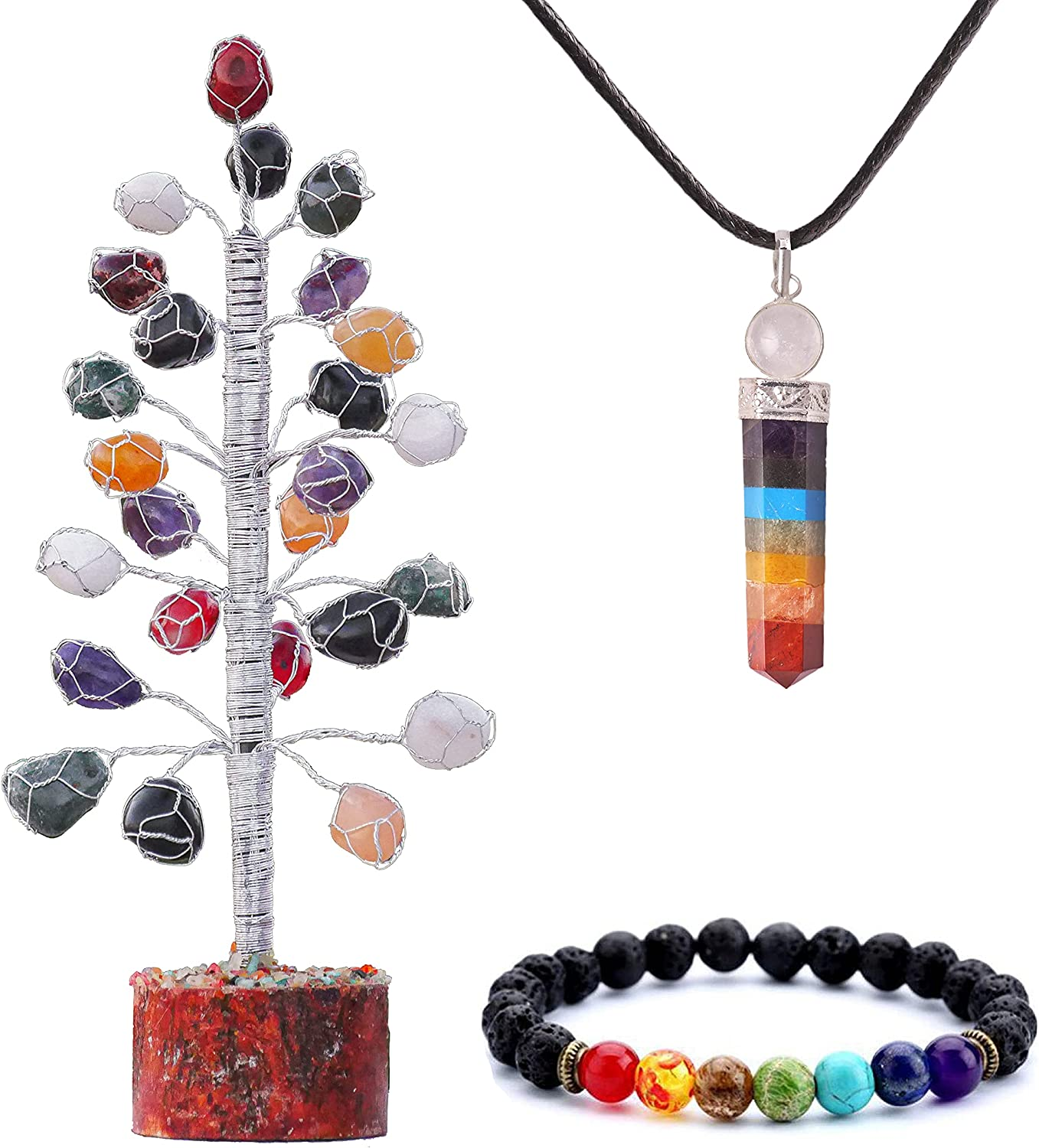 QUIPSA Mix Chakra Gem Tree of Home Life Decor Crystal Spring new work one Cheap super special price after another Gif