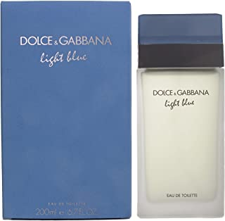 Dolce & Gabbana Women's Eau De Toilette Spray, Light Blue, 6.7 Fl. Oz (Pack of 1)