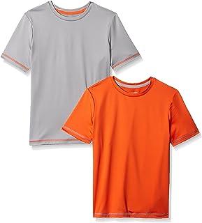 Amazon Essentials Boys' 2-Pack Short-Sleeve Basic Active Tee