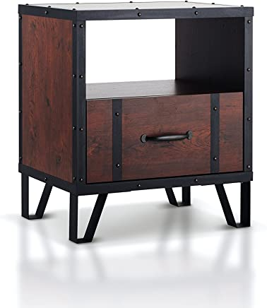 featured product ioHOMES Darwin Industrial End Table,  Vintage Walnut