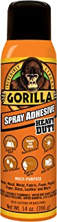 Gorilla Spray Adhesive, Heavy Duty, Multi-Purpose, Dries Permanent, Indoor & Outdoor, Wide Pad Nozzle, Controlled Spray, C...