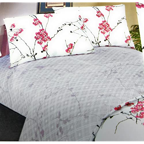 DaDa Bedding FSFSK8318 4-Piece Floral Cotton Sheet Set, King