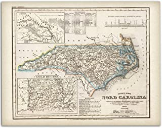 North Carolina Map - 11x14 Unframed Art Print - Makes a Great Gift Under $15 for Cartographers