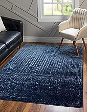 Unique Loom Del Mar Collection Contemporary Transitional Blue Area Rug (5' 0 x 8' 0)
