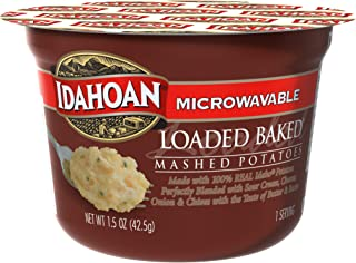 Idahoan Loaded Baked Mashed Potatoes, Made with Gluten-Free 100-Percent Real Idaho Potatoes, 1.5 oz Cup (Pack of 10)