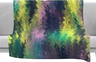Kess InHouse BarmalisiRTB Give Chase Green Digital Throw 80 x 60 Fleece Blanket