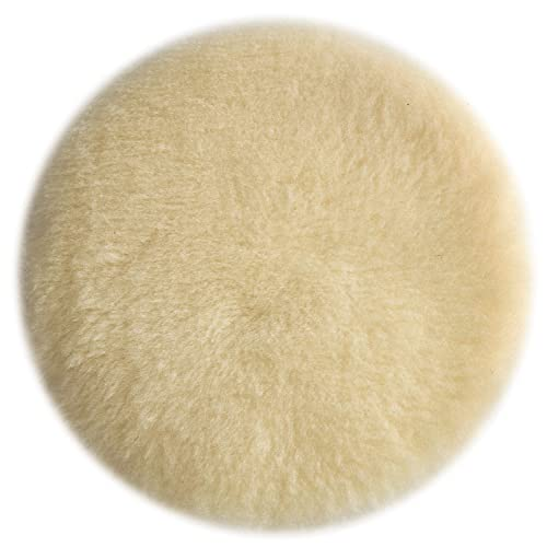 PORTER-CABLE Polishing Pad, Lambs Wool, Hook and Loop, 6-Inch (18007)