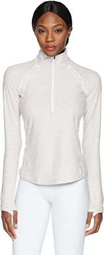 nouveau   femmes Anticipate Half Zip, Sea Salt Heather, X-petit