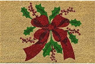 Verdemax 5457 - Rectangular, Christmas Flower Design Doormat, 40 x 60 cm