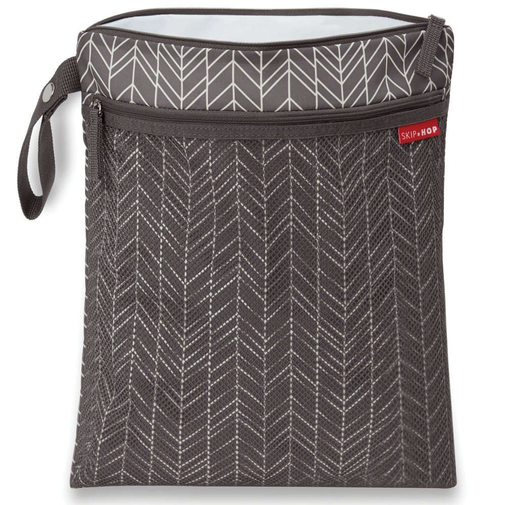 Skip Hop Wet Dry Bag, Grab & Go, Grey Feather