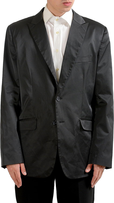 Kenneth Cole Men's Off Black Two Button Blazer Sport Coat Size 44R