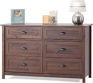 Child Craft Abbott Collection Ready-to-Assemble Double Dresser - Rich Walnut