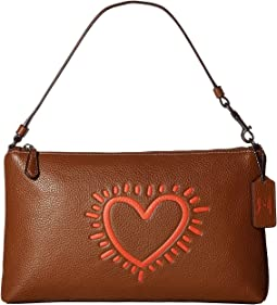 Keith Haring Leather Large Wristlet 25