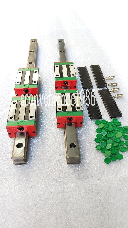 2 Sets HGR15-400mm Hiwin Recommended Linear Rail 4 Max 80% OFF pcs Beari HGH15CA Block