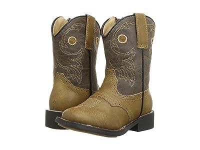 Roper Kids Daniel (Toddler) (Tan Saddle Vamp/Tumbled Brown Shaft) Cowboy Boots