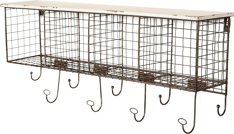 Linon 4-Cubby Wall Shelf White Sales results No. 1 Washington Mall - AHWE1238W1