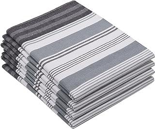 ZOLLNER 4er Set Geschirrtücher 50x70 cm, Baumwolle, grau weitere verfügbar