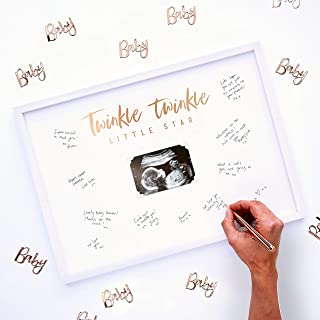 Ginger Ray Baby Shower Scan Guest Book Frame Party Decoration - Twinkle