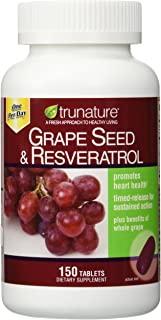 TruNature Grape Seed & Resveratrol - 2 Bottles, 150 Tablets Each