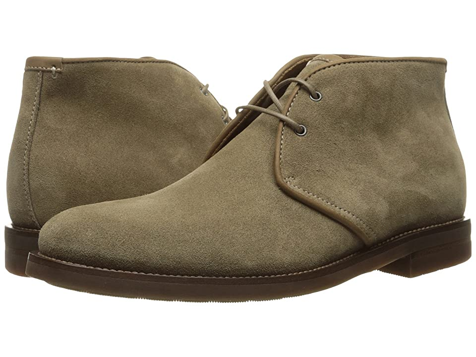 Aquatalia Carlos (Taupe Oiled Waxy Suede) Men