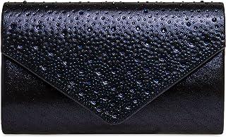 Caspar TA423 elegante Damen Clutch Tasche Abendtasche mit Strass Dekor