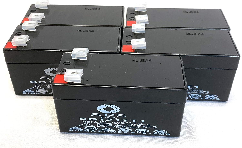 SPS Brand Regular dealer 12V 1.3Ah Replacement Max 40% OFF Battery 5 Edwards for Pack EST