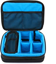 DURAGADGET Gewatteerde zwart en blauw opslag/draagtas met verstelbare verdelers (camera NIET inbegrepen) - compatibel met ...