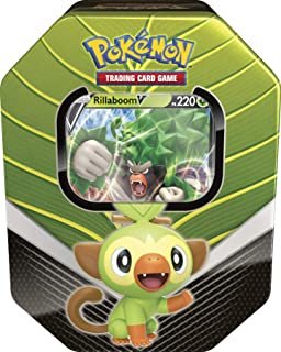 Lata Pokémon Rillaboom V Parceiros de Galar, Estampado, Copag