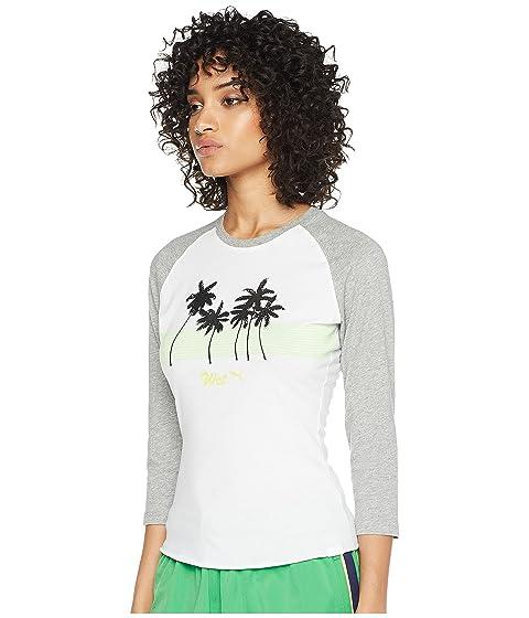 bebé Fenty 1 Camiseta PUMA x Puma para Rihanna redondo brillante con por Blanco cuello 0OEgqxwE