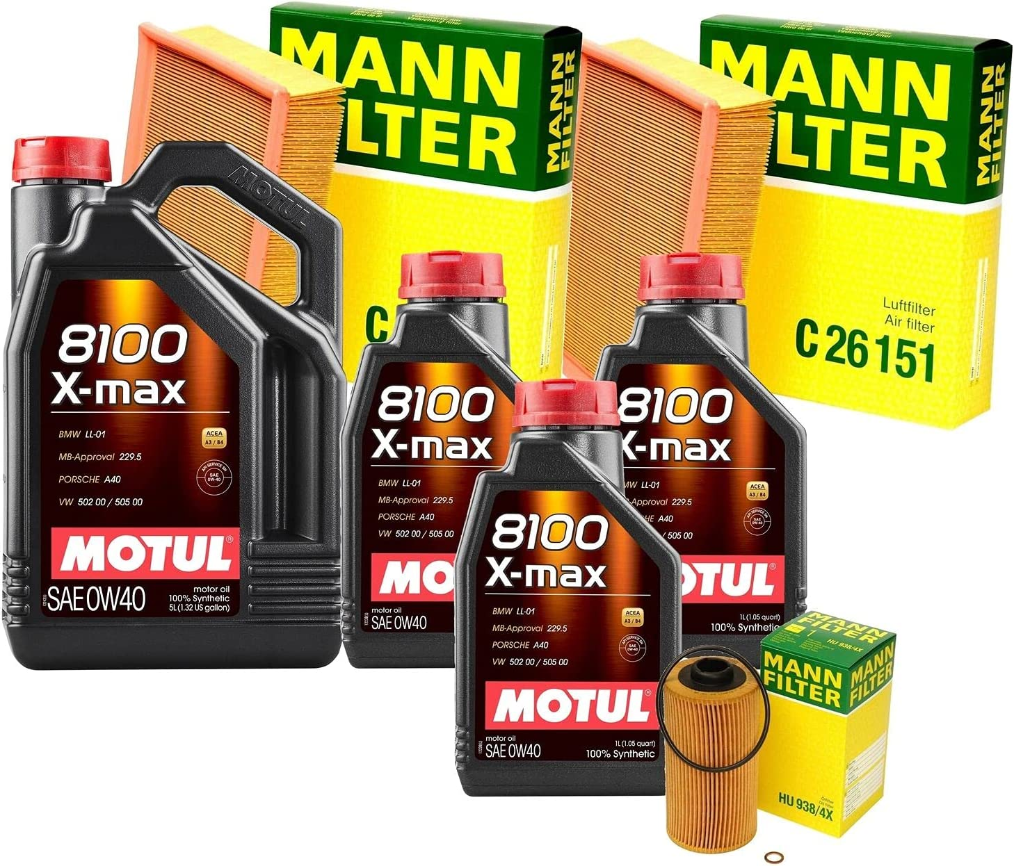 8L 8100 X-MAX 0W-40 Filter Motor favorite Air 4.0 Change Department store 740i Oil kit E38