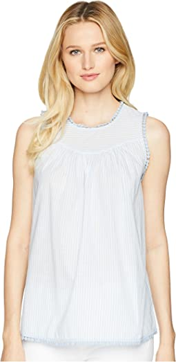 2379e539282d1 Joules. Zinnia Sleeveless Pop Over Blouse.  20.99MSRP   59.95. Light Blue  Stripe