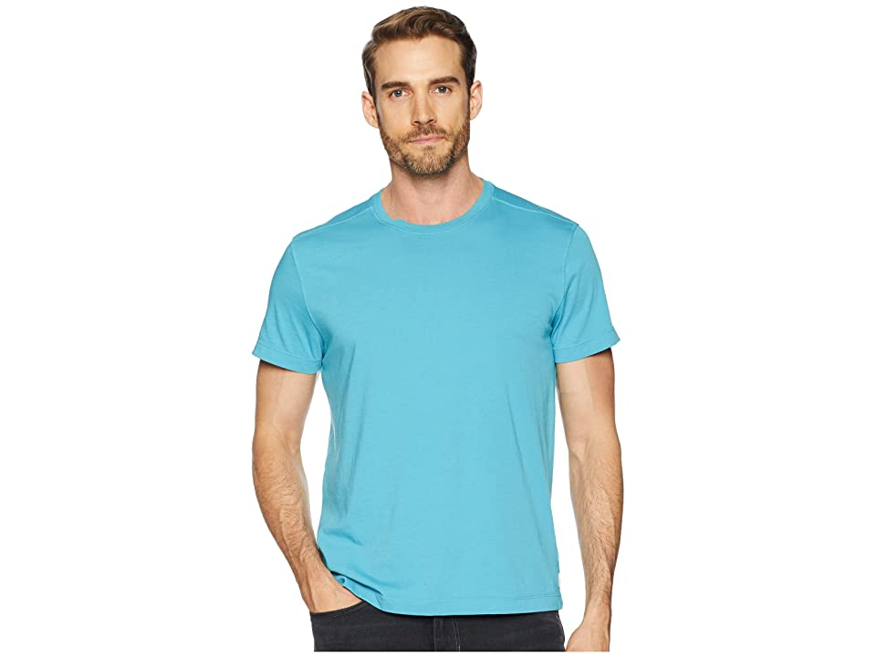 Image of Agave Denim Agave Supima Crew Neck Short Sleeve Tee (Blue Moon) Men's T Shirt