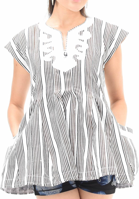 African Print Ladies Flair Top   Kente Dashiki Ankara Black and White Striped Handmade Fabric